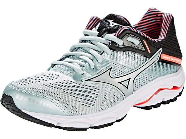 Mizuno Wave Inspire 15 Chaussures Femme, sky gray/silver/fiery coral